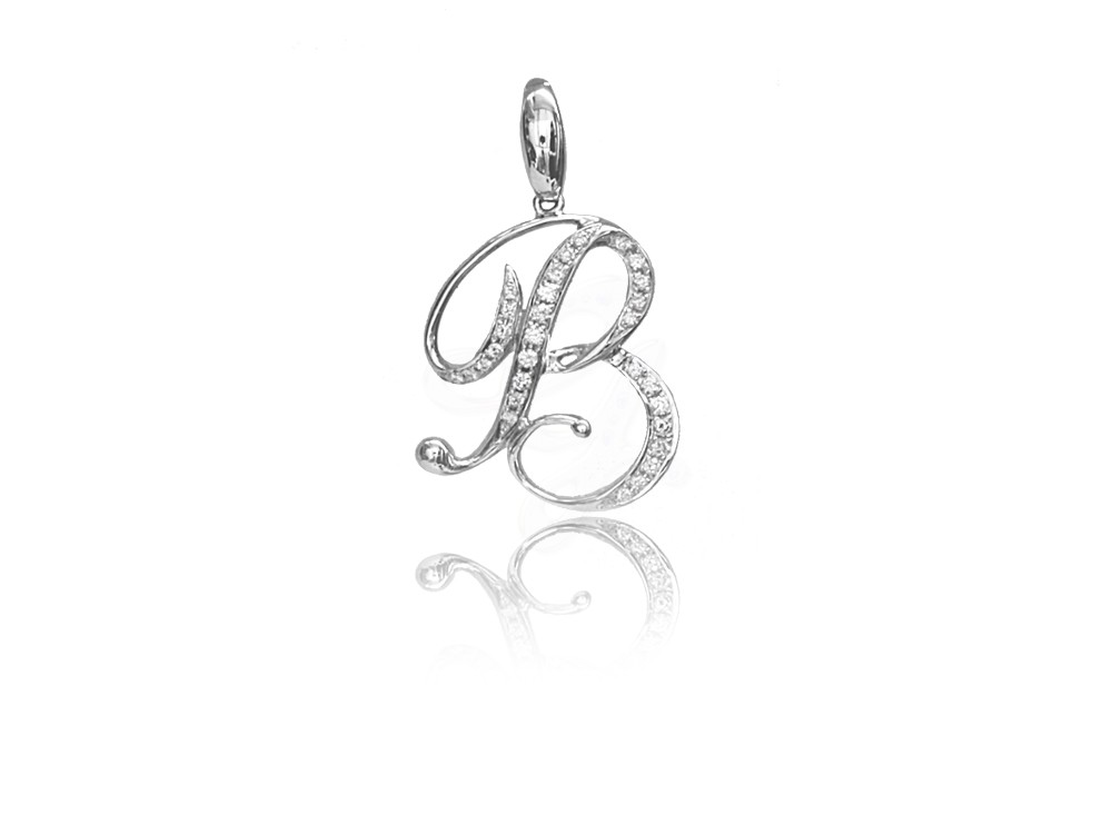 dang co letter b pendant diamond custom product johnny info