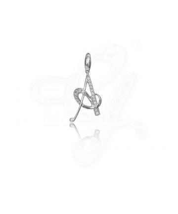 Diamond A Pendant / Charm
