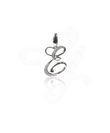 Diamond E Pendant / Charm