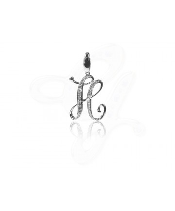 Diamond H Pendant / Charm