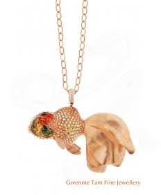 Gold Fish Brooch/ Pendant