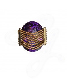 Vineyard in Snow Amethyst Ring